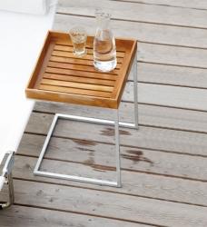 Beistelltisch Garten Holz U-Form 40x40 cm
