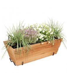 Blumenkasten Holz mit Halterung