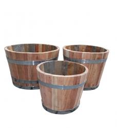 Blumenkübel Holz Eiche 3er Set