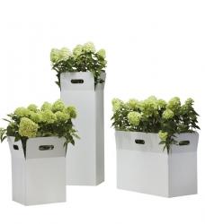 Blumenkübel Box weiss von Flora