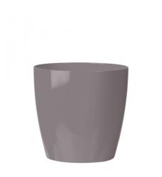 Blumentopf Kunststoff grau rund