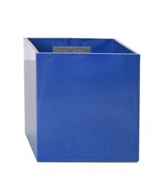 Magnetischer Blumentopf Würfel 6,5 cm | blau