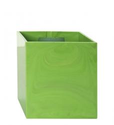 Magnetischer Blumentopf Würfel 9,5 cm | apfelgrün