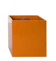 Magnetischer Blumentopf Würfel 9,5 cm | orange