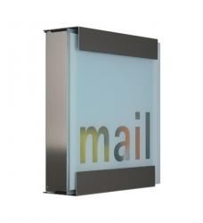 Design Briefkasten Edelstahl Glas Mail