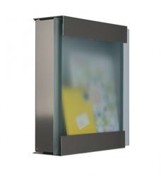 Briefkasten Edelstahl Glas