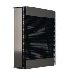 Design Briefkasten Edelstahl Glas schwarz