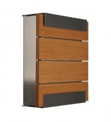 Design Briefkasten Holz Eiche