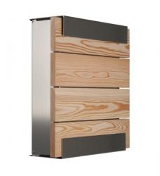 Design Briefkasten Lärchenholz