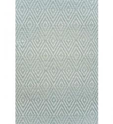 Dash & Albert Outdoor Teppich Diamond eisblau