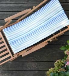 Deckchair Liegestuhl Teak palasari blau (palasari cobalt)