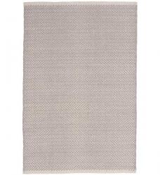 Dash & Albert Baumwollteppich Herringbone grau