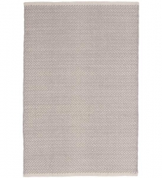 Dash & Albert Baumwollteppich Herringbone Dove Grey