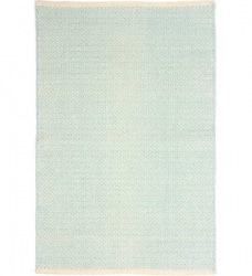 Dash & Albert Baumwollteppich Herringbone eisblau 122 x 183 cm