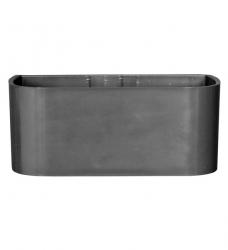 Magnetischer Pflanz-Kasten groß - 22 cm | dunkelgrau