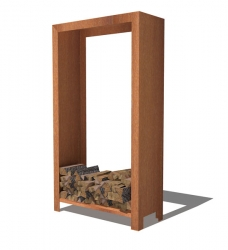 Kaminholzlager Cortenstahl 100 x 40 x 180 cm