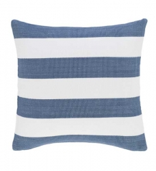 Dash & Albert Outdoor-Kissen blau gestreift 50x50 cm