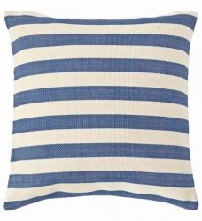 Outdoor Kissen blau gestreift 56x56 cm