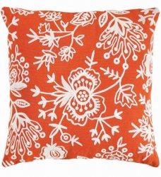 Dash & Albert Kissen FLORA orange 56x56 cm