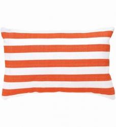 Outdoor Kissen orange gestreift 60x40 cm