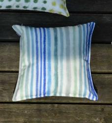 Outdoor-Kissen Somnia PALASARI blau gestreift 40x40cm