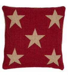 Dash & Albert Kissen STAR rot 56x56 cm