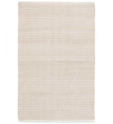 Outdoor Teppich Fischgratmuster beige 120 x 180 cm