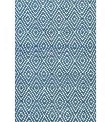 Dash & Albert Outdoor Teppich Diamond blau