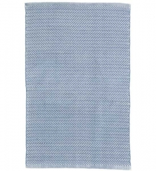 Outdoor Teppich Herringbone blau