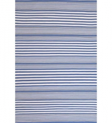 Outdoor Teppich Rugby Stripe blau gestreift