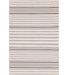 Outdoor Teppich Rugby Stripe grau gestreift 90 x 150 cm