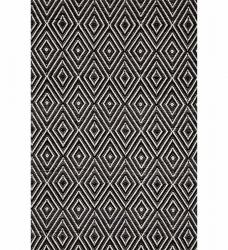 Dash & Albert Teppich Diamond schwarz 76 x 244 cm