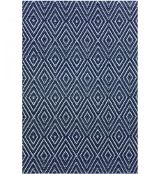 Dash & Albert Outdoor Teppich Diamond dunkelblau