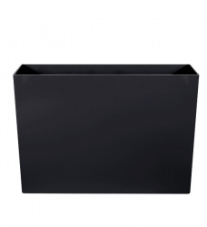 Pflanzkübel Kunststoff rechteckig hoch schwarz  90 x 40 x 60 cm
