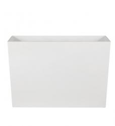 Pflanzkübel Kunststoff lang hoch weiß  90x40/60 cm