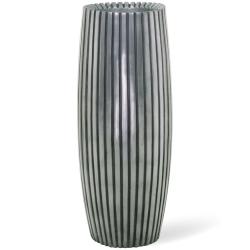 Pflanzkübel LINES silber fleur-ami h 50 x  Ø 22 cm