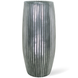 Pflanzkübel LINES silber fleur-ami h 90 x Ø  42 cm