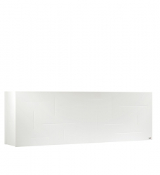 Pflanzkübel Raumteiler  weiß Metall 162 x 29 x 53cm (B / T / H)