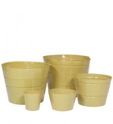 Pflanzeinsatz rund beige