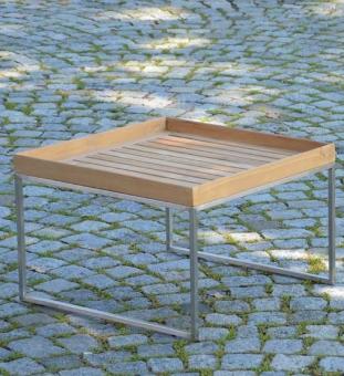 Beistelltisch Garten Teak 60x60 cm