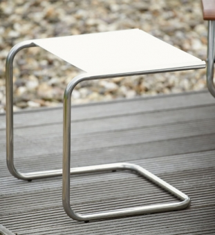 Beistelltisch Outdoor Metall weiß 40x40 cm