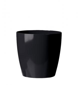 Blumentopf Kunststoff schwarz rund