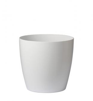 Blumentopf Kunststoff weiß rund