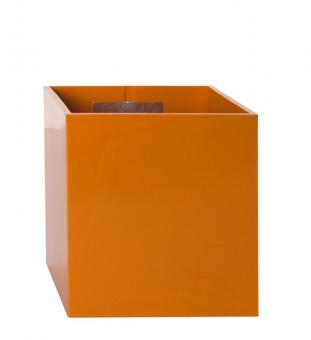Magnetischer Blumentopf Würfel 9 cm | orange