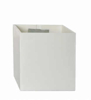 Magnetischer Blumentopf Würfel 9 cm | weiß (polarweiß)