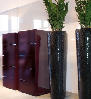 bodenvase conical black fleur ami im greenbop online shop kaufen. Black Bedroom Furniture Sets. Home Design Ideas