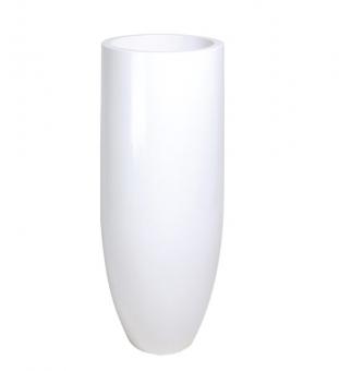 Bodenvase weiß PANDORA h 90 x Ø 35 cm