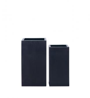 Blumenkübel quadratisch schmal schwarz 30 x 30 x 60cm (L/B/H)
