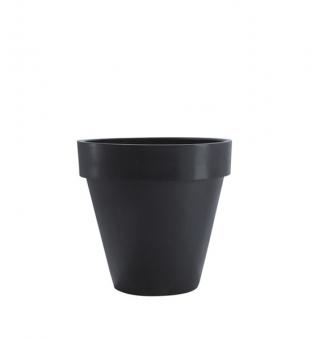 Blumentopf schwarz mit Rand