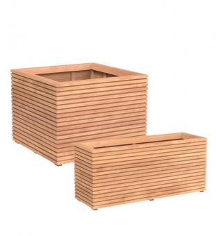 Großer Design Pflanzkübel Holz MALAGA
